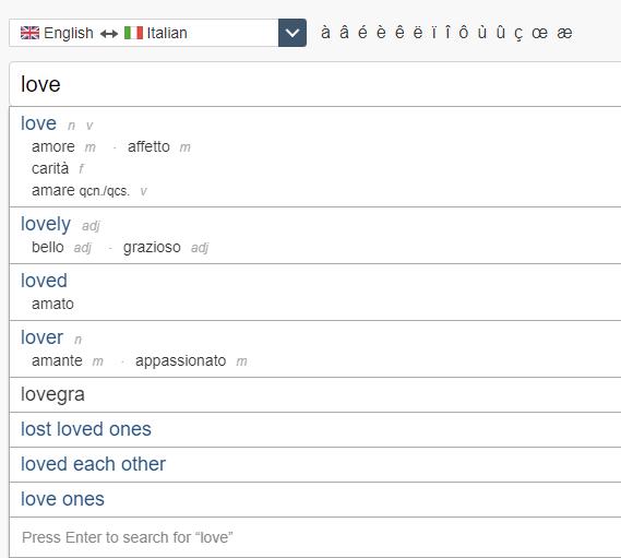 linguee translation tool sample search