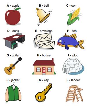 English Alphabet samples